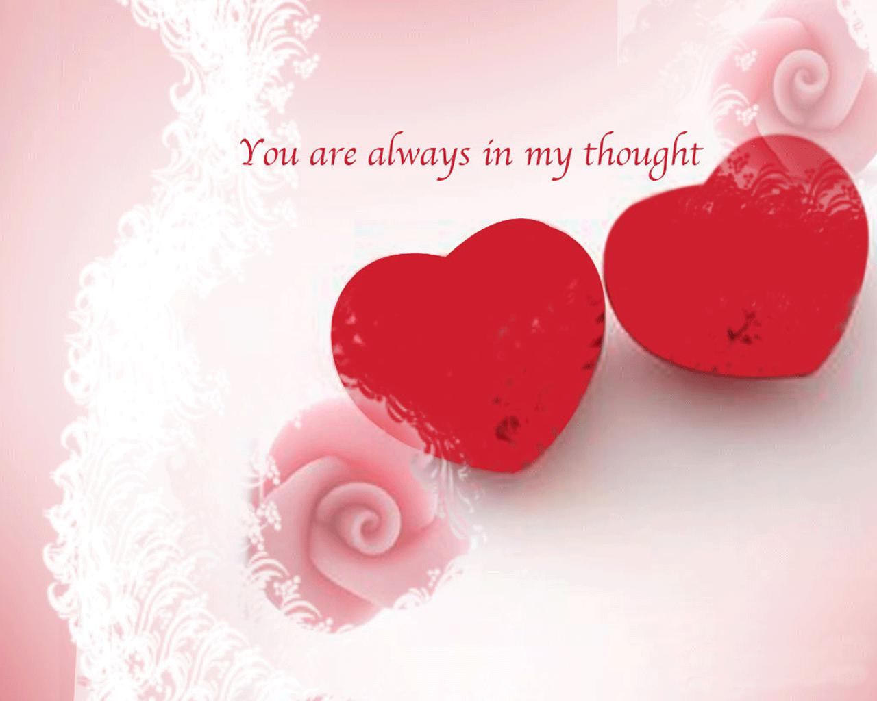 You Are Always In My Thought ~ Love Quote