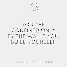 You Are Confined Only By The Walls You Build Yourself ~ Joy Quote