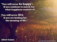You Will Never be Happy If You Continue to Search For What Happiness Consists of ~ Happiness Quote