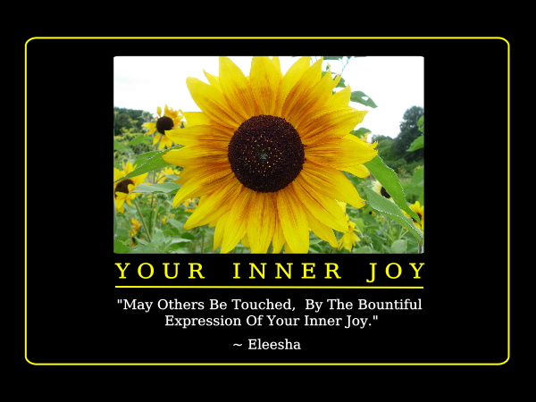 "Your Inner Joy ""May Others Be Touched,By The Bontiful Expression Of Your Inner Joy"" ~ Joy Quote"