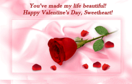 You Ve Made My Life Beautiful Happy Valentine S Day Sweetheart