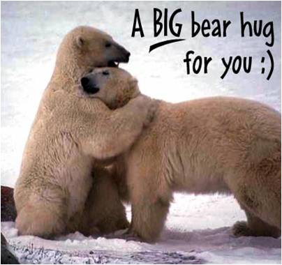""" A Big Bear Hug For You "" ~ Sorry Quote"