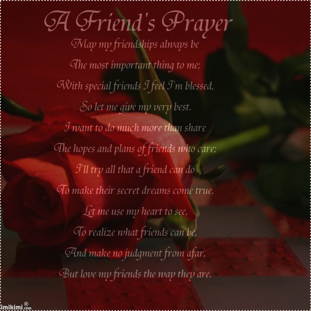 A friends prayer may my friendship always be quotespictures a friends prayer may my friendship always be altavistaventures