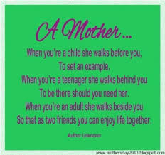 Happy Mother\'s Day, When You\'ve A Child She Walks Before You ...