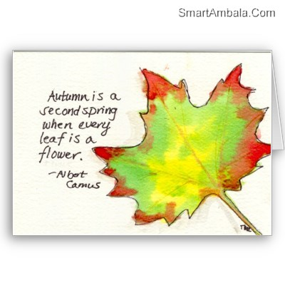 Autumn Is A Second Spring When Every Leaf Is A Flower Albert