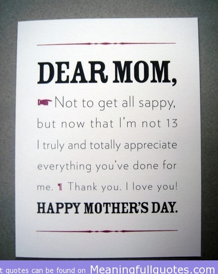 I Love You Quotes Mom : Everything Youve Done For Me. Thank You. I Love You ? Happy