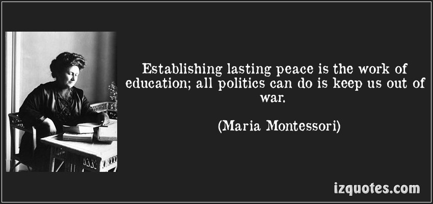 all about peace education Why peace curriculum is an integral part of learning in the montessori classroom: it is necessary to think of education as peace, not education for peace.