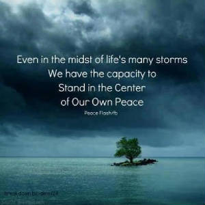 Even in the midst of life s many storms we have the capacity to