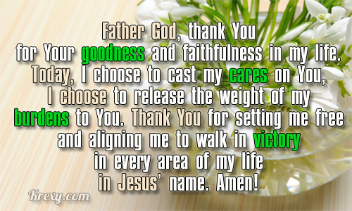 Father God, Thank You For Your Goodness And Faithfulness