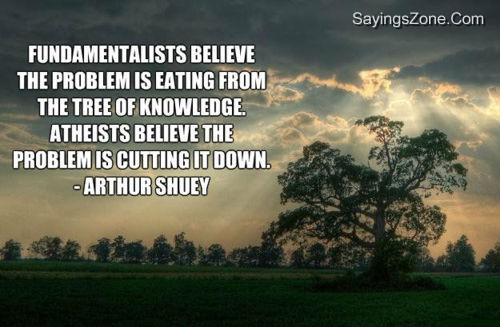 Fundamentalists Believe The Problem Is Eating From The