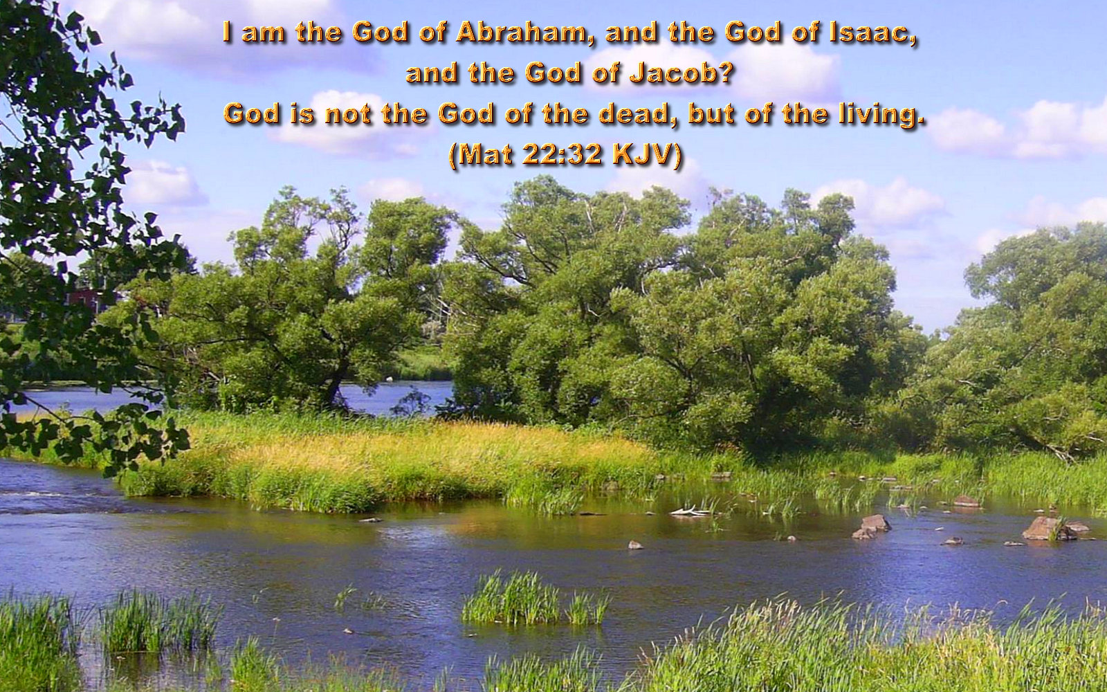 I Am The God Of Abraham And The God Of Isaac And The God Of Jacob