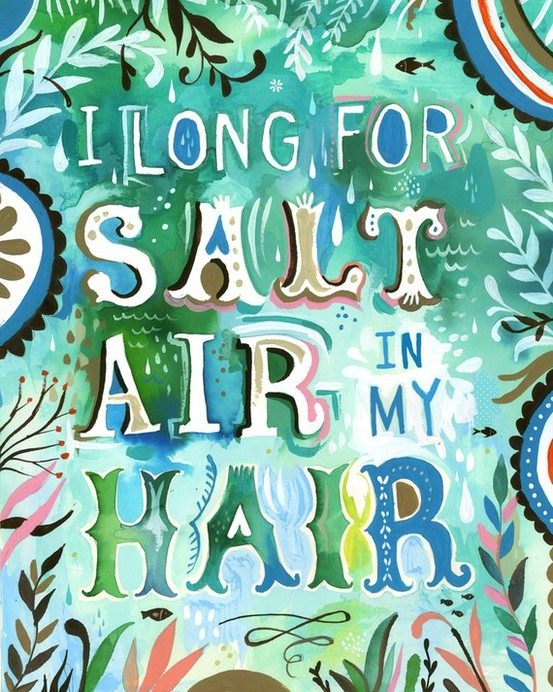 Ocean Air Salty Hair Sea Quote Quotespictures Com