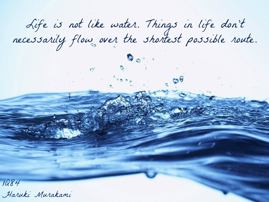 Quote Related To Life Life Is Not Like Waterthings In Life Don't Necessarily Flow Over