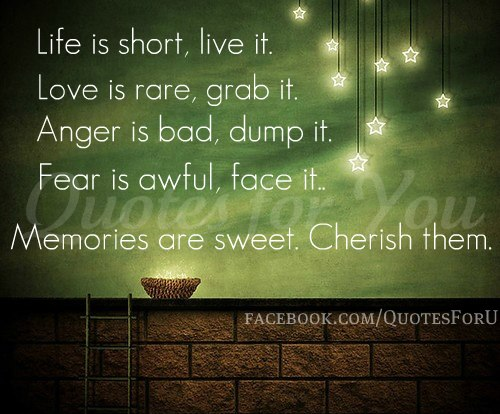 Quote life is short but sweet for certain
