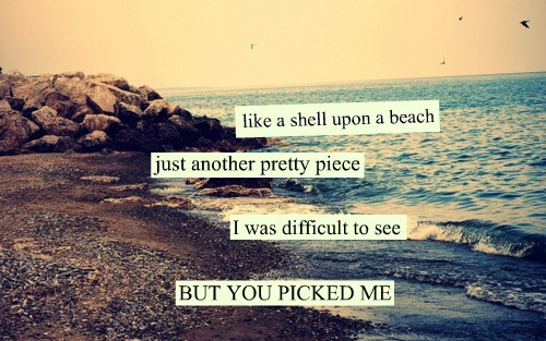 Like A Shell Upon A Beach Just Another Pretty Piece I Was Difficult To See