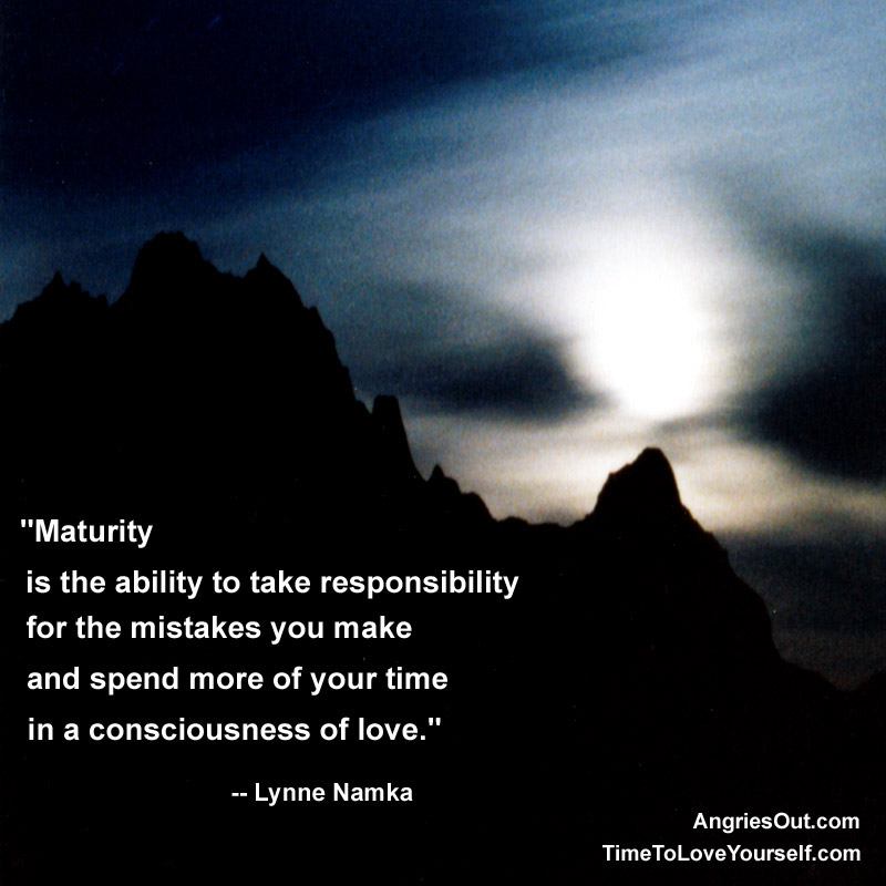 "Spend more of your time in a consciousness of love "" lynna namka"