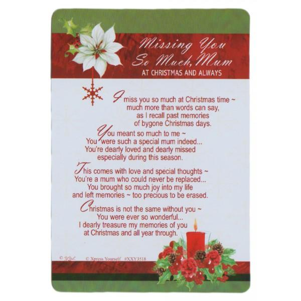 missing you so much mum at christmas and always missing you quote