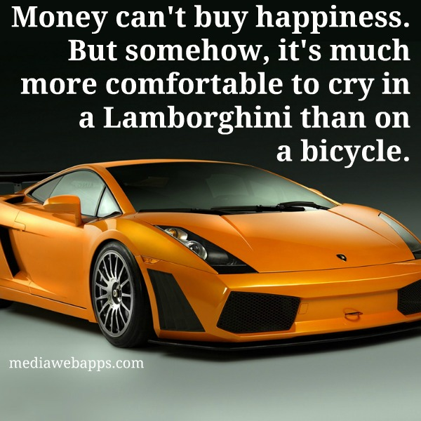 Money Can T Buy Happiness But Somehow It S Much More Comfortable