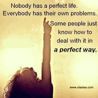 """ Nobody Has A Perfect Life. Everybody Has Their  Own Problems. Some People Just Know How To Deal With It In A Perfect Way "" ~ Mistake Quote"