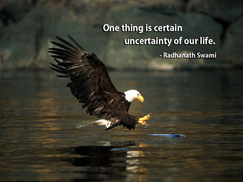 One Thing Is Certain Uncertainty Of Our Life Radhanath Swami