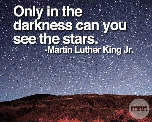martin luther king the darker Martin luther king's acceptance speech, on the occasion of the award of the   become dreary with low-hovering clouds and our nights become darker than a.