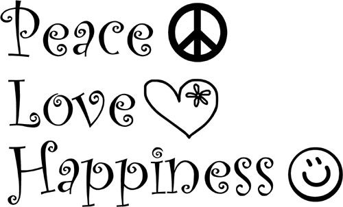 """Peace Love Happiness """" Quotespictures Simple Love Peace Happiness"""