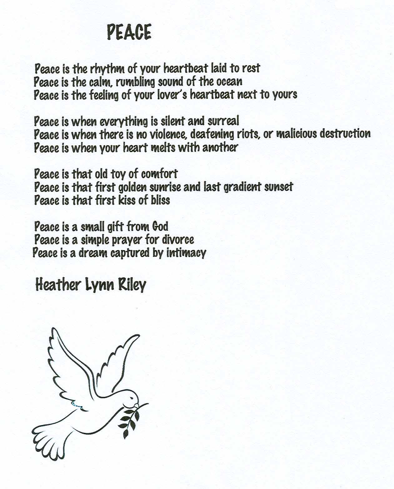 poem about peace and brotherhood This poem talks of the bond of brother brothers share a special bond, like blood, brotherhood, it's thicker than water friends may come and go.