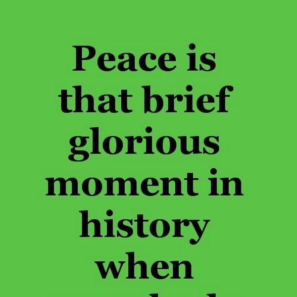 funny peace quotes