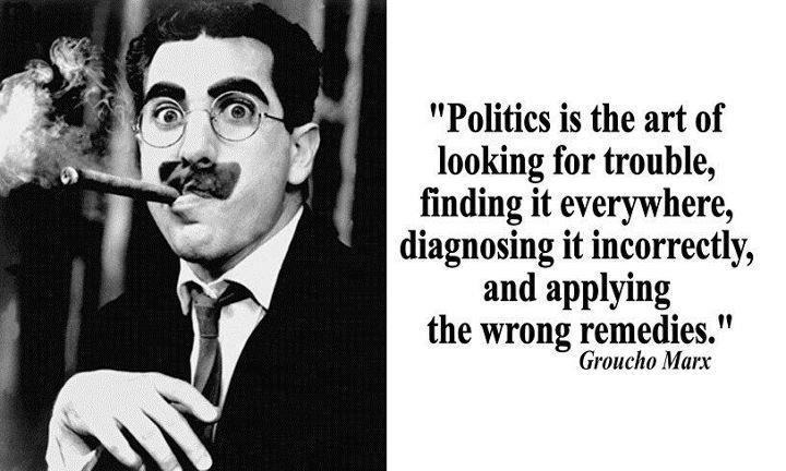 Politics Everywhere Quotes Groucho Marx Quotes Politics