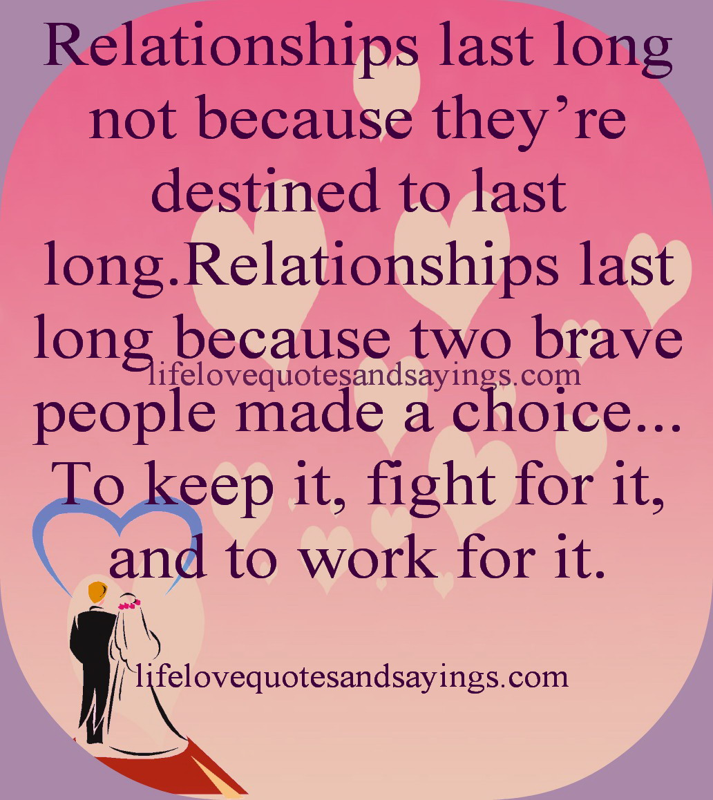 Relationship Last Long Not Because They're Destined To