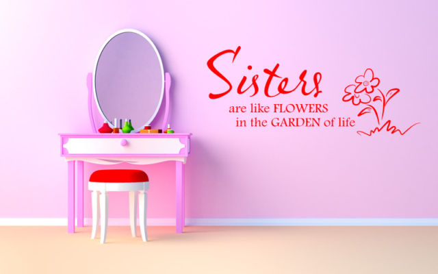 Sisters are like flowers in the Garden of life ~ Childern Quote