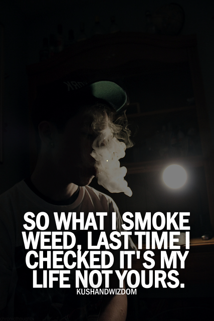 So What I Smoke Weed, Last Time I Checked It\'s My Life Not ...
