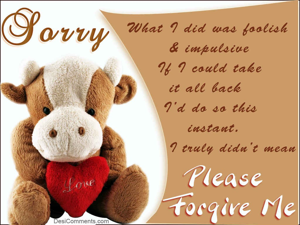Sorry Quotes Pictures and Sorry Quotes Images with Message - 3