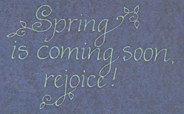 """ Spring Is Coming Soon, Rejoice """