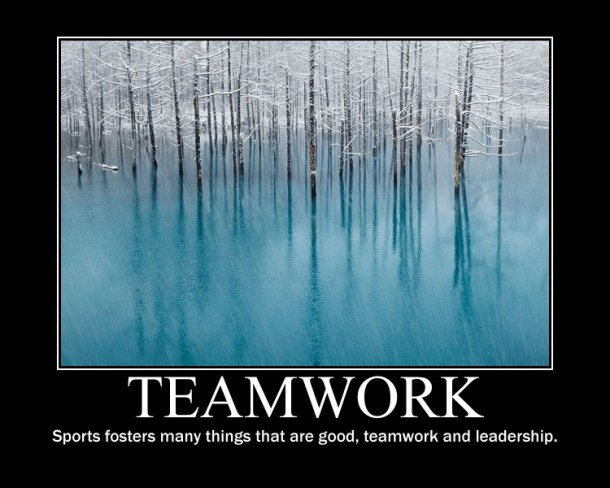 teamwork sports fosters many things that are good teamwork and