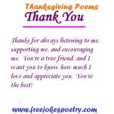 """ Thanksgiving Poems, Thank You, Thanks For Always Listening To Me, Supporting Me, And Encouraging Me. You're A True Friend…"