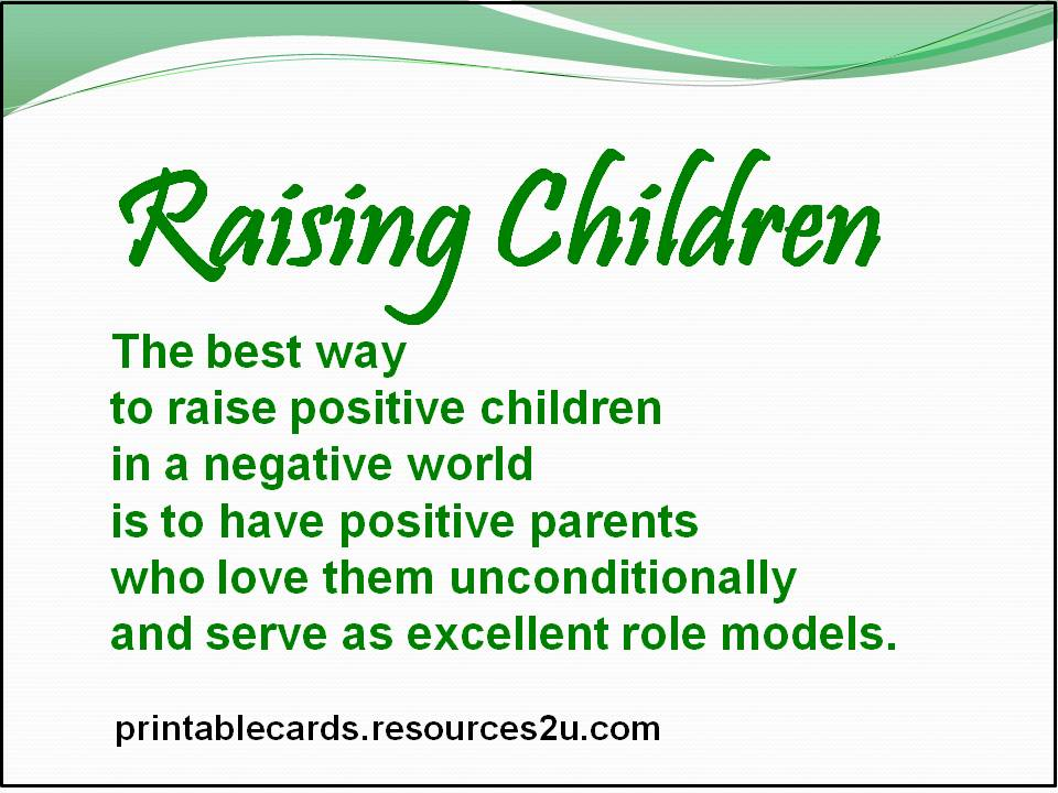 societys role on raising children Raising children with roots, rights & raising children with roots, rights & responsibilities is about become a role model for parents and children by helping.
