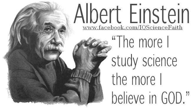Albert Einstein Quote God and Science