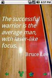 Successful Bruce Lee the Warrior Quote