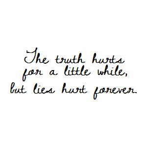 being lied to hurts