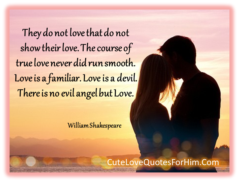 Shakespeare Course of True Love Never Did Run Smooth