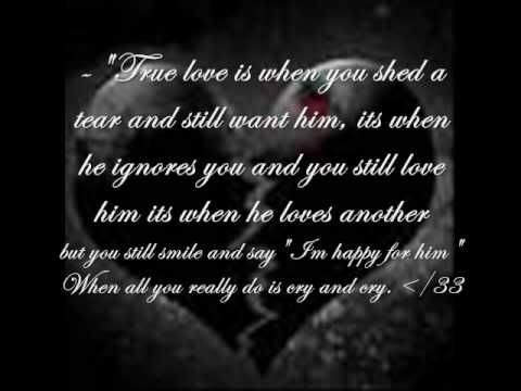 Want Him, Its When He Ignores You And You Still Love Him Its When He ...
