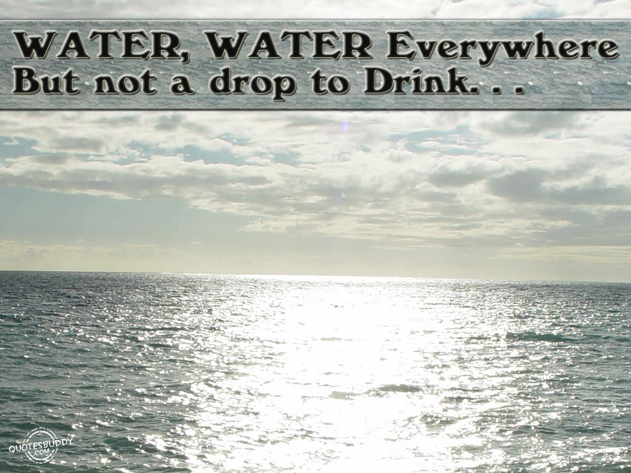 Responsibility, No Single Drop Of The Water Thinks It Is