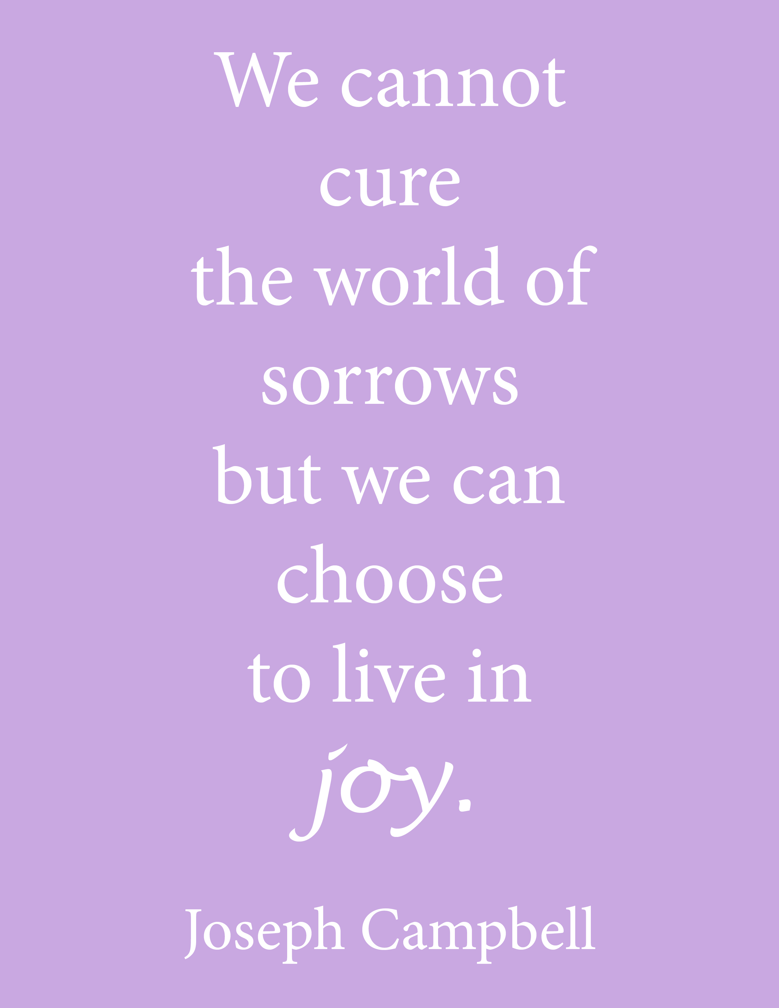 Inspirational Joseph Campbell Quote