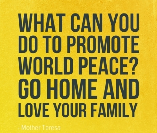 Quotes About Loving Your Family: Peace Quotes About Family. QuotesGram