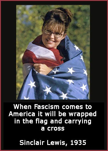 """"""" When Fascism Comes To America It Will Be Wrapped In The Flag And Carrying A Cross """" - Sinclair Lewis 1935  ~ Politics Quote"""