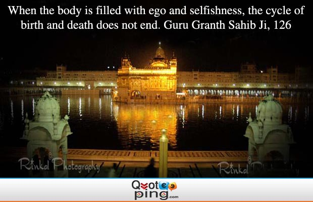 when the body is filled ego and selfishness the cycle of