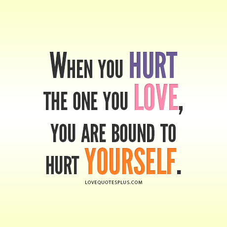 ... Love, You Are Bound To Hurt Yourself ? ~ Sad Quote Sad Quotes