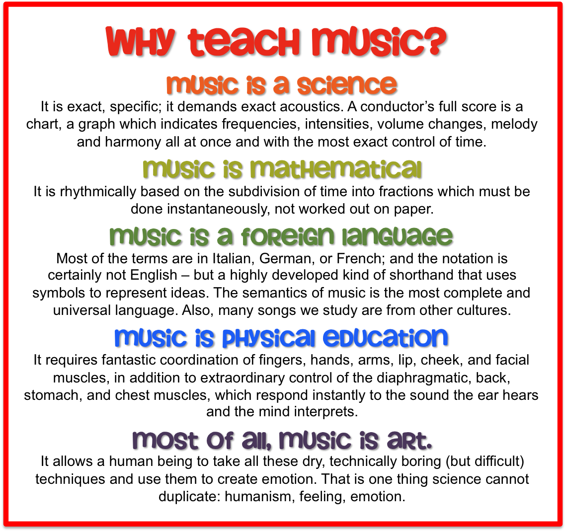 Why Teach Music, Music Is A Science