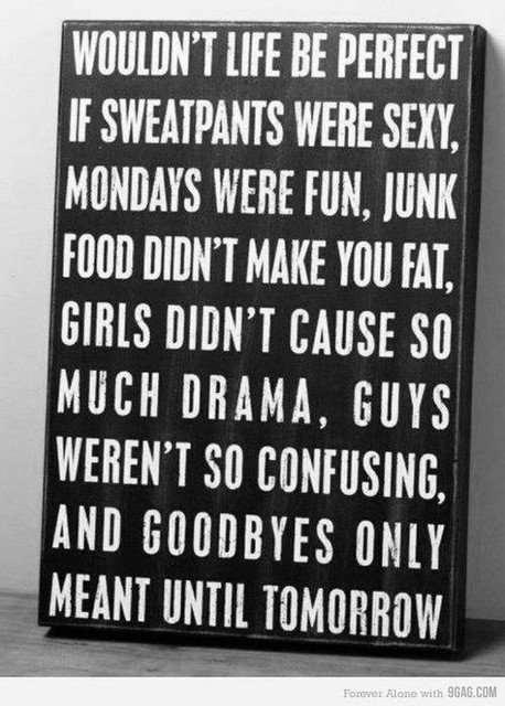 Perfect if sweatpants were sexy monday mornings were